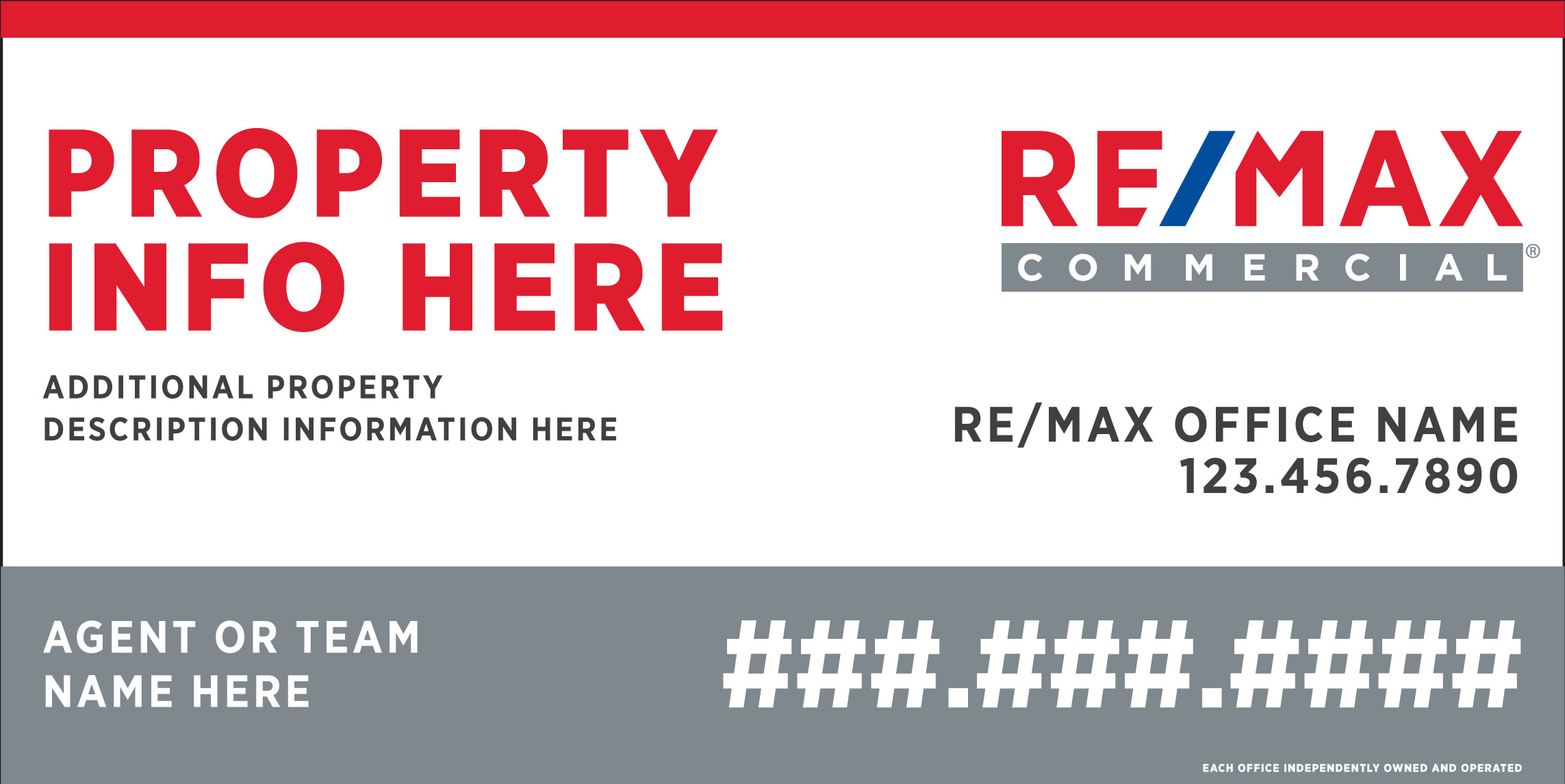 RE/MAX 4x8 Commercial Sign