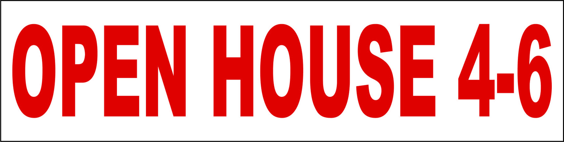 Open House 4-6