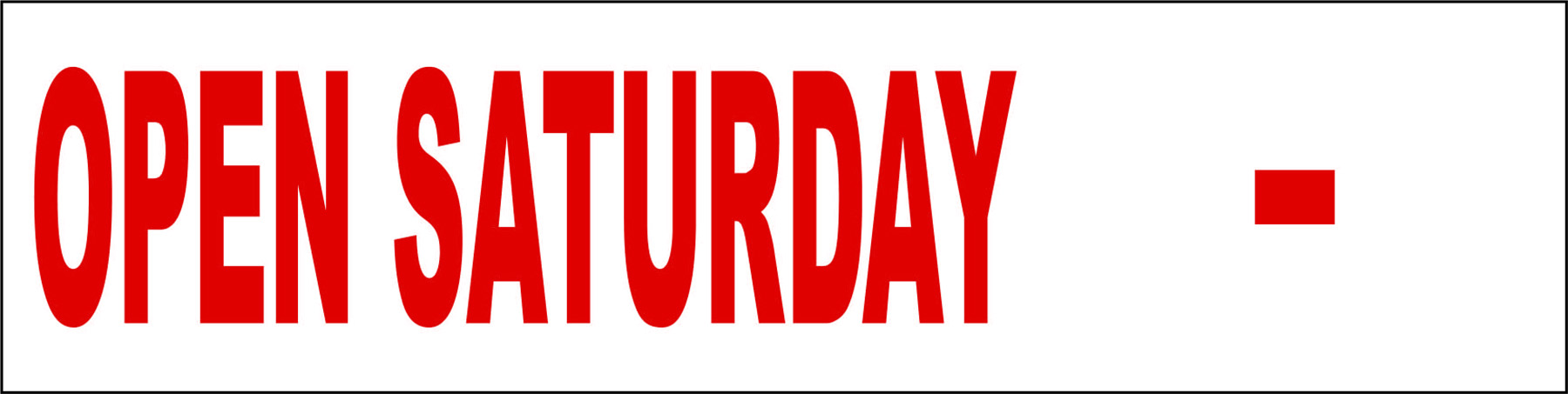 Open Saturday Fill In