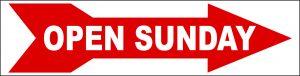 Open Sunday Directional