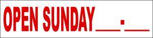 Open Sunday Fill In