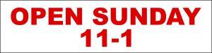 Open Sunday 11-1