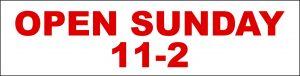 Open Sunday 11-2