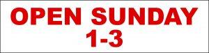 Open Sunday 1-3