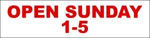 Open Sunday 1-5