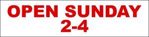 Open Sunday 2-4