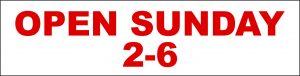 Open Sunday 2-6