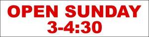 Open Sunday 3-4:30