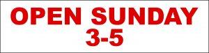 Open Sunday 3-5