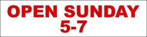 Open Sunday 5-7